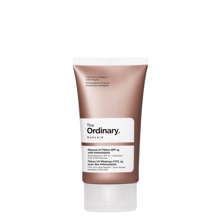 The Ordinary The Ordinary Mineral UV Filters SPF 15 with Antioxidants broad spectrum UVA UVB protection