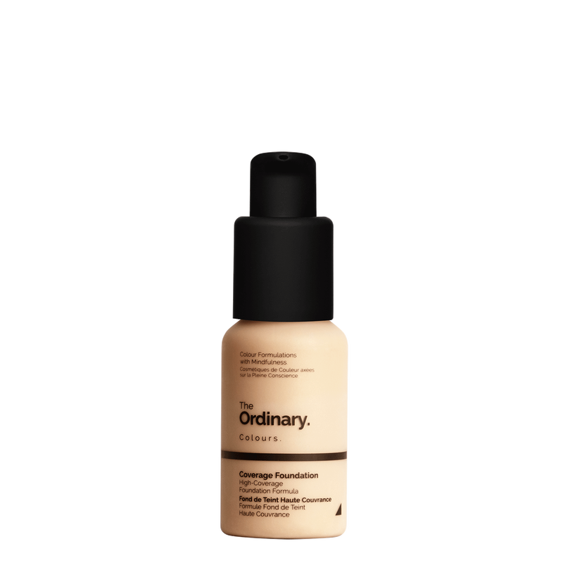 The Ordinary The Ordinary Coverage Foundation 2.0 YG light medium with yellow undertones and gold highlights