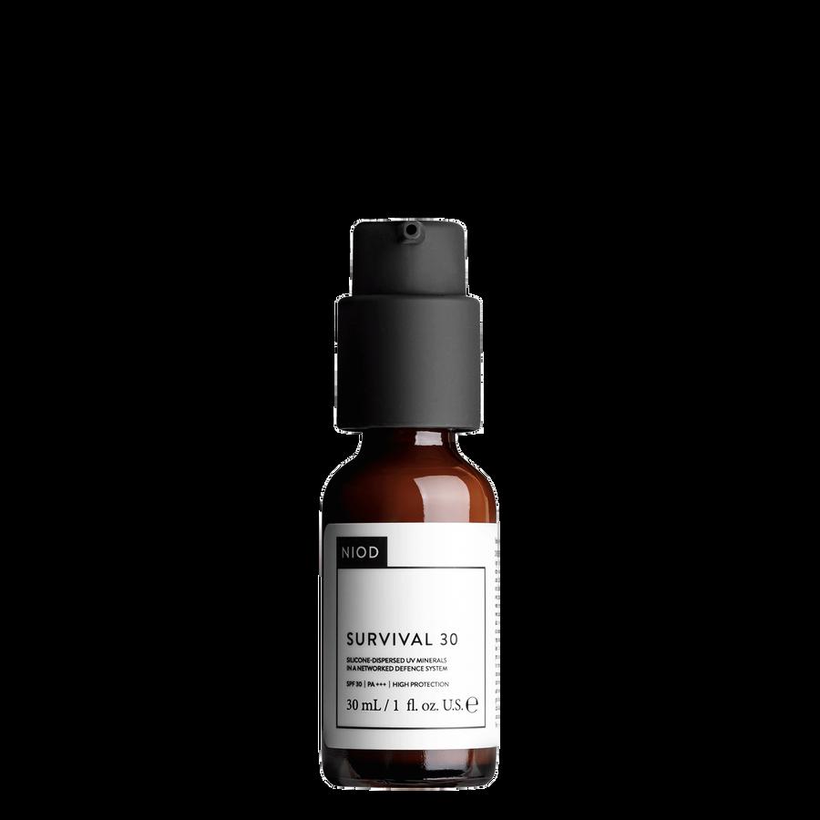NIOD NIOD Survival 30 (S30) broad spectrum UVA UVB protection and antioxidant support serum