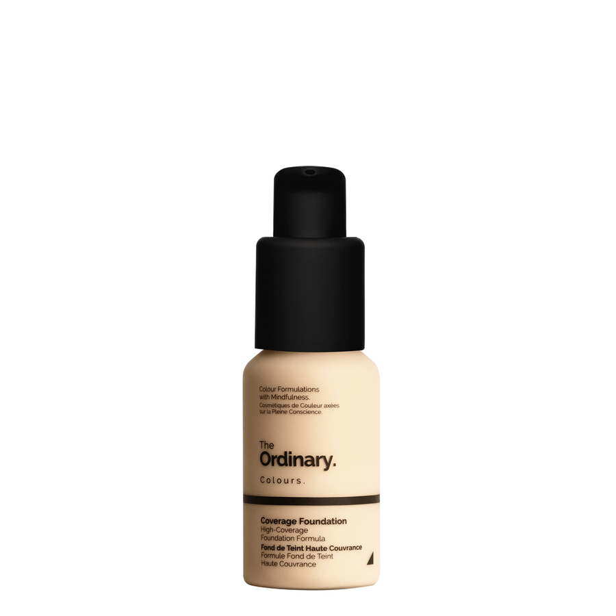 The Ordinary The Ordinary Coverage Foundation 1.2 YG light with yellow undertones and gold highlights